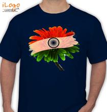 Republic Day flag-flower T-Shirt