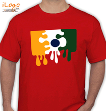 Republic Day Paint-Your-Own-India-Flag-T-Shirt T-Shirt