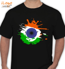 Republic Day indian-independence-day-background-with-national-flag-colors-and-ashoka-wheel T-Shirt