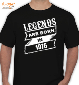 Legends are born . - T-Shirt