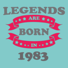 Legends-are-born-%B T-Shirt