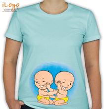 Peek a boo Twins-inside. T-Shirt