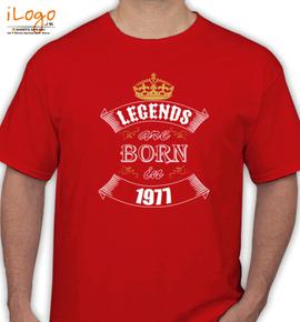 Legends are born %A - T-Shirt