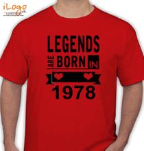 Legends are Born in 1978 Legends-are-born-IN-%A T-Shirt