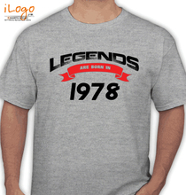 Legends are Born in 1978 Legends-are-born-IN-%C%C T-Shirt