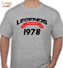 Legends are born IN %C%C - T-Shirt