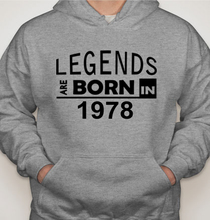 Legends are Born in 1978 T-Shirts