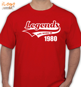 Legends are born IN %B - T-Shirt