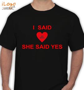 I said be mine - T-Shirt