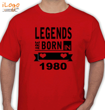 Legends are Born in 1980 T-Shirts