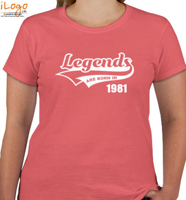 Legends are born in %B - T-Shirt [F]