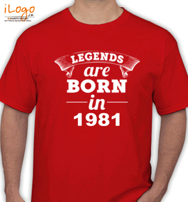 Legends are born in %B%B - T-Shirt
