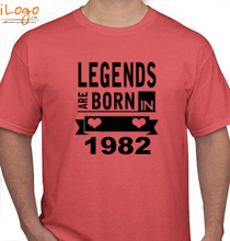 Legends are Born in 1982 T-Shirts