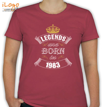Legends are Born in 1983 T-Shirts