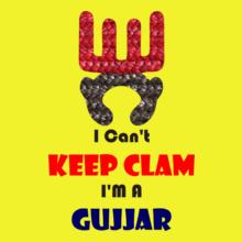 Gujjar Keep-Clam-Gujjar T-Shirt