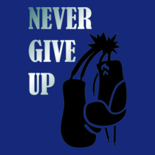 Boxing Motivational Never-giveup T-Shirt