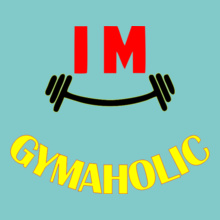 Gym Inspirational Gymaholic T-Shirt