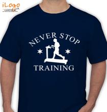 Gym Inspirational Never-stop-Training T-Shirt