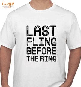 groom fling before the ring - T-Shirt