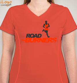 Kashmira-orange - Blakto Women's Sports T-Shirt