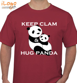 271a4d34 Keep-clam-%26-hug-panda Personalized Men's T-Shirt at Best Price ...