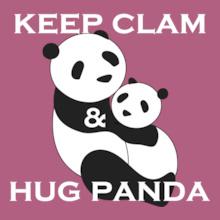 Keep-clam-%-hug-panda T-Shirt