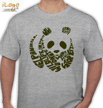 WWF PANDA-text T-Shirt