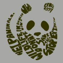 WWF PANDA-text T-Shirt