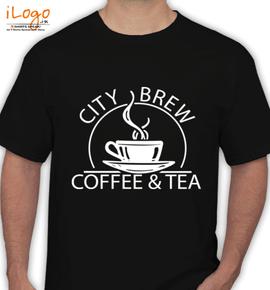 coffee % tea - T-Shirt