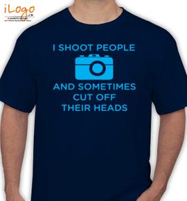 camera shoot people - T-Shirt