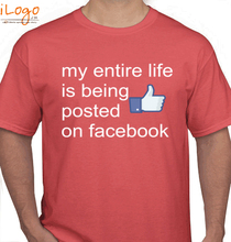 Facebook posted-on-facebook T-Shirt
