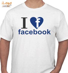 love facebook - T-Shirt