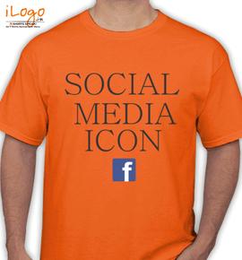 social media icon - T-Shirt