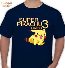 Pikachu super-pikachu-bros T-Shirt