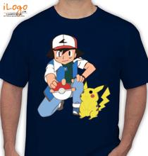 Pikachu ash-and-pikachu T-Shirt
