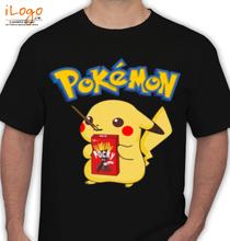 Pikachu pokemon-with-pocky-sticks T-Shirt