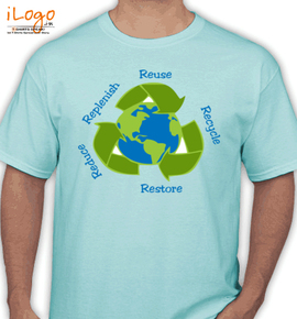 earth recycle restore reuse - T-Shirt