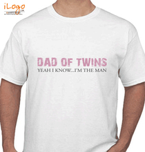 Baby Dad-of-twins-t-shirt T-Shirt