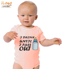 i-drink-untill-i-pass-out - Baby Onesie