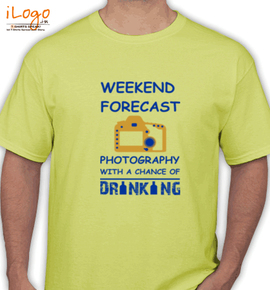 photography with a chance of drinking - T-Shirt