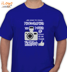 photographer power of the hands - T-Shirt