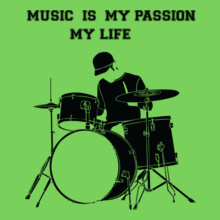 MUSIC-IS-MY-PASSION-MY-LIFE T-Shirt