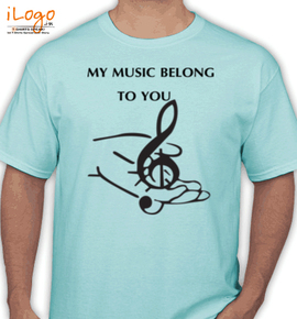 music belong to u - T-Shirt