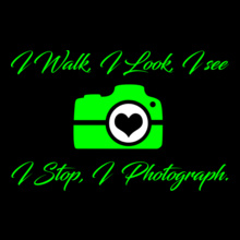 Photographer I-walk%C-see%C-Photograph T-Shirt
