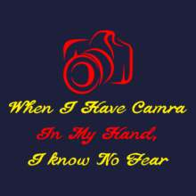 Photographer when-camera-in-my-hand T-Shirt