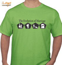 Wedding Evolution-Of-Marriage T-Shirt