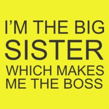 Sisters Sister-is-always-boss T-Shirt