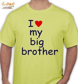 I Love My Big Brother Personalized Mens T Shirt At Best Price