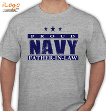 Father in Law Navy-father-in-law T-Shirt