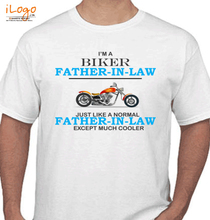 Father in Law Biker-father T-Shirt